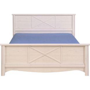 Jugendzimmer Marion Parisot 4-tlg inkl Bett + 2 Nachtkommoden + Kleiderschrank weiß - Bild 1
