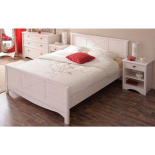 Jugendzimmer Marion Parisot 4-tlg inkl. Kommode + Bett 160*200 cm + 2 Nachtkommoden weiß - Bild 1