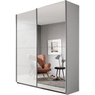 Schwebetürenschrank Hannah Weiß Hochglanz 2 Türen B 181 cm - Bild 1