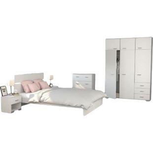 Jugendzimmer Galaxy Parisot 5-tlg inkl. Kommode + Bett 140*200 cm + 2 Nachtkommoden + Kleiderschrank - Bild 1