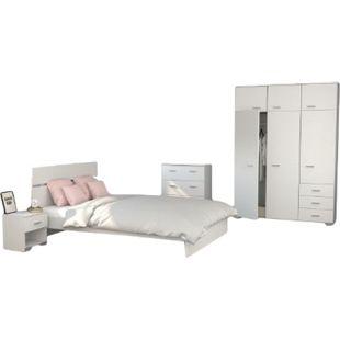 Jugendzimmer Galaxy Parisot 5-tlg inkl. Kommode + Bett 160*200 cm + 2 Nachtkommoden + Kleiderschrank - Bild 1
