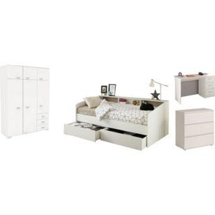 Kinderzimmer Sleep Parisot inkl. Bett + 2 Bettschubkästen + Kleiderschrank + Schreibtisch + Kommode - Bild 1