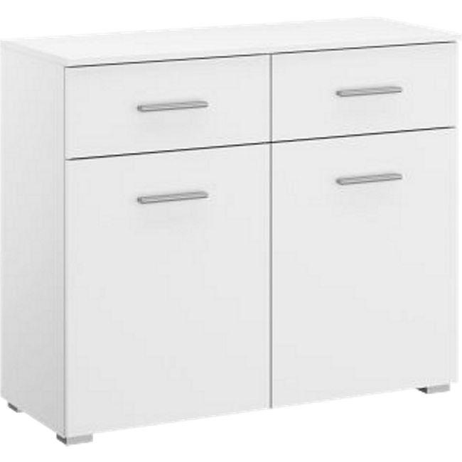 Kommode Hannah mit 2 Türen + 2 Schubladen mit Softclose-Funktion B 93 cm H 81 cm weiß - Bild 1