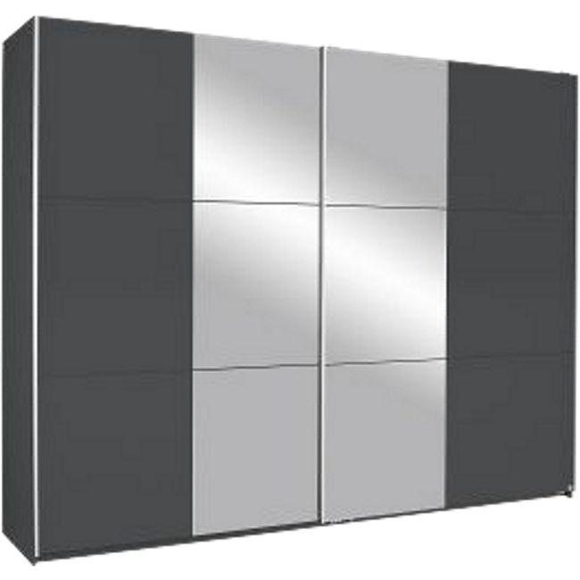 Schwebetürenschrank Nico grau 2 Türen B 261 cm - Bild 1