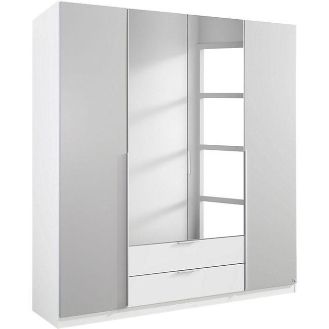 Kleiderschrank Bela grau - weiß 4 Türen B 181 cm - H 197 cm - Bild 1
