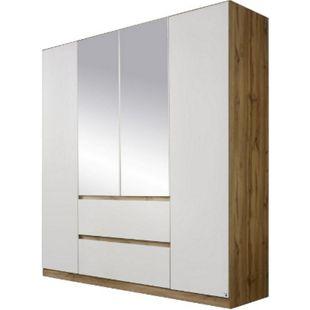 Drehtürenschrank Amelie weiß - braun 4 Türen B 181 cm - Bild 1