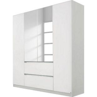 Drehtürenschrank Amelie weiß - seidengrau 4 Türen B 181 cm - Bild 1