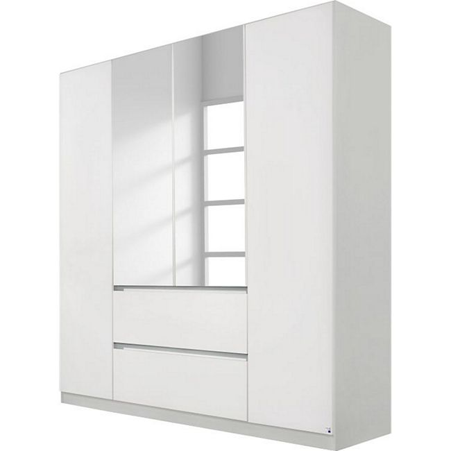 Drehtürenschrank Amelie weiß / seidengrau 4 Türen B 181 cm - Bild 1