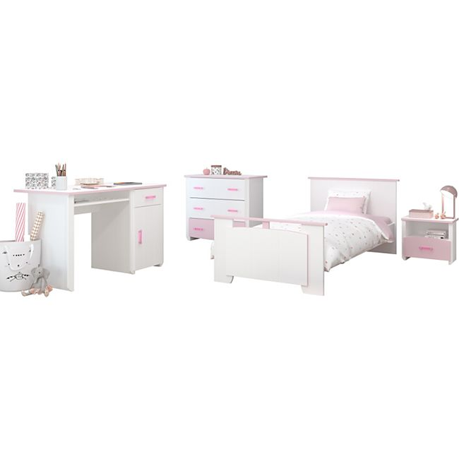 Kinderzimmer Biotiful Parisot 4-teilig Weiß - Rosa - Bild 1