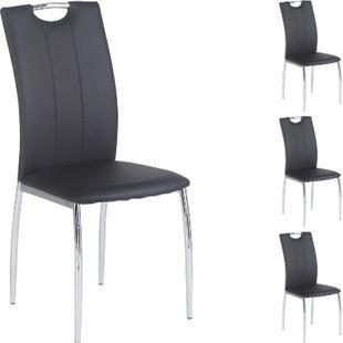 IDIMEX Esszimmerstuhl APOLLO, Set mit 4 Stühlen grau - Bild 1