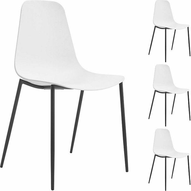 IDIMEX Esszimmerstuhl FRIDO im 4er Pack modernes Design in weiß - Bild 1