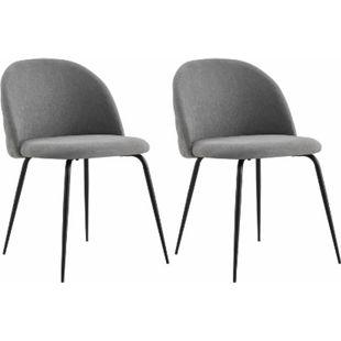 IDIMEX Esszimmerstuhl ARRIBA im 2er Set mit Stoffbezug in grau - Bild 1