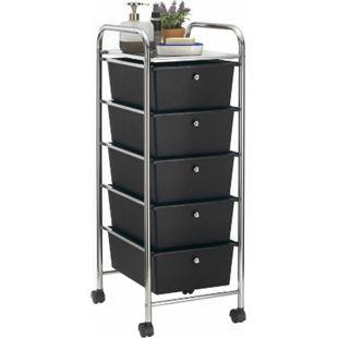 IDIMEX Rollcontainer GINA mit 5 Schubladen in chrom/schwarz - Bild 1
