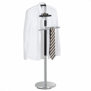 IDIMEX Herrendiener GAVINO mit Hosenbügel und Kleiderbügel chrom/schwarz - Bild 1