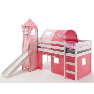 IDIMEX Spielbett BENNY pink/rosa, weiß lackiert - Bild 1