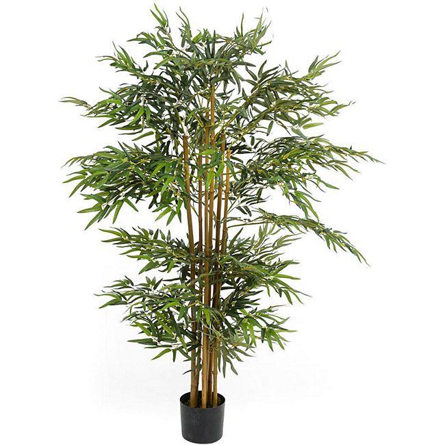 Kunstpflanze Bambusbaum Grün - Bild 1