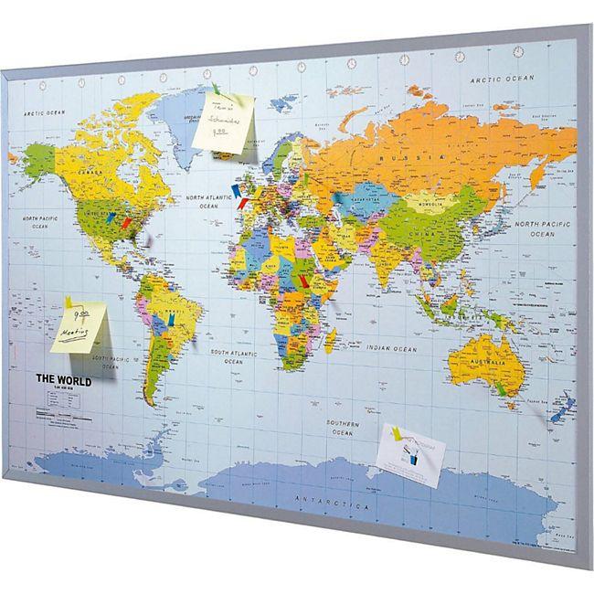 Pinnwand Weltkarte / Europakarte Welt - Bild 1