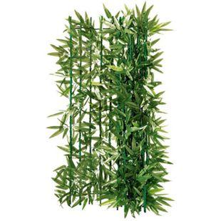 Balkon-Sichtschutz Bambus zuschneidbar grün ca. 3 x 1 m Bambus Grün - Bild 1