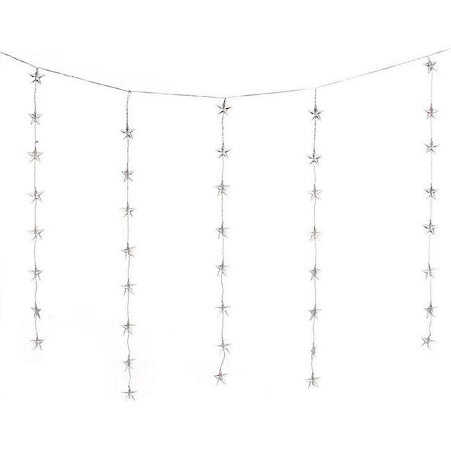 LED-Lichterkette Sternenvorhang - Bild 1
