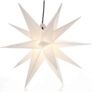 Outdoor Adventsstern Leuchtstern 3D Polypropylen weiß 50 cm Ø Stern Weiß Ø 50 cm - Bild 1