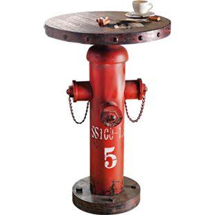 Beistelltisch Fireplug Rot/Braun - Bild 1