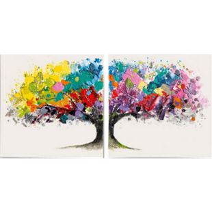 Bilder-Set, 2-tlg. Magic Tree Bunt - Bild 1