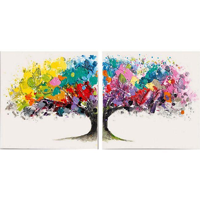 Bilder-Set, 2-tlg. Magic Tree Bunt - Bild 1