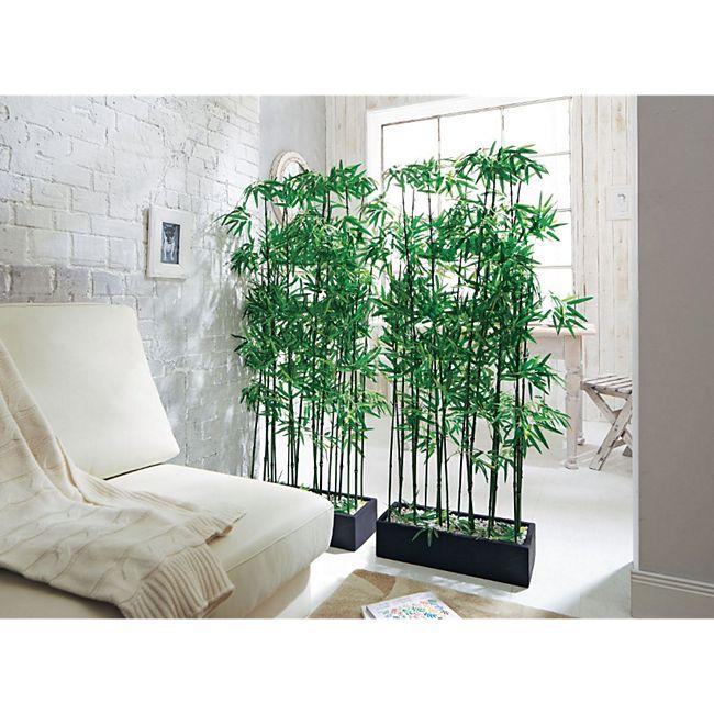 Kunstpflanze Raumtrenner Bambus Grün - Bild 1