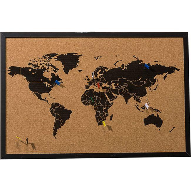 Pinnwand Weltkarte Schwarz - Bild 1