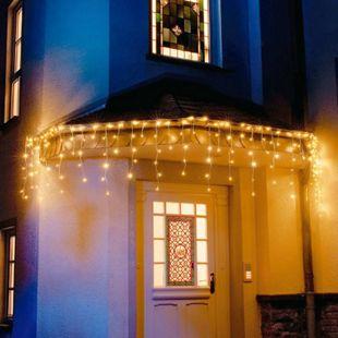 Weihnachtsdeko LED Lichterkette Eisregen 96 LEDs Warmweiß ca. 3 m Eisregen - Bild 1