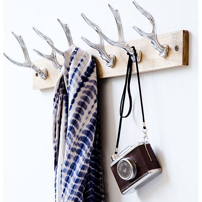 miaVILLA Wandgarderobe Deer Silberfarben - Bild 1