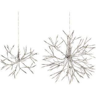 LED-Objekt Schneeflocke Silberfarben groß - Bild 1