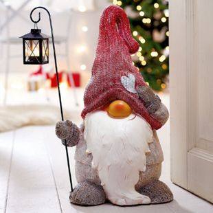 Deko-Figur Weihnachtswichtel mit Laterne - Bild 1