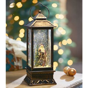 LED-Deko-Objekt Schneelaterne mit Weihnachtsmann - Bild 1