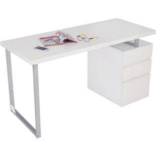 Schreibtisch Oslo Weiß - Bild 1