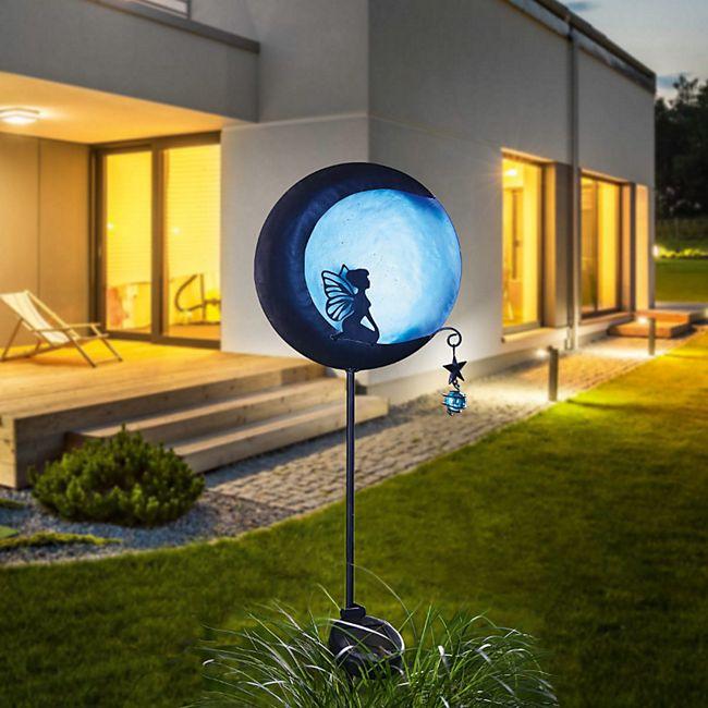 Solarleuchte Elfe am Mond Schwarz/Blau - Bild 1
