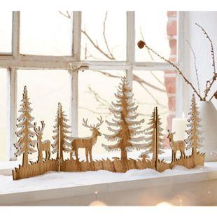 Weihnachts-Silhouette Zauberwald Natur/Weiß - Bild 1