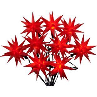 LED-Lichterkette 3D-Sterne Rot - Bild 1