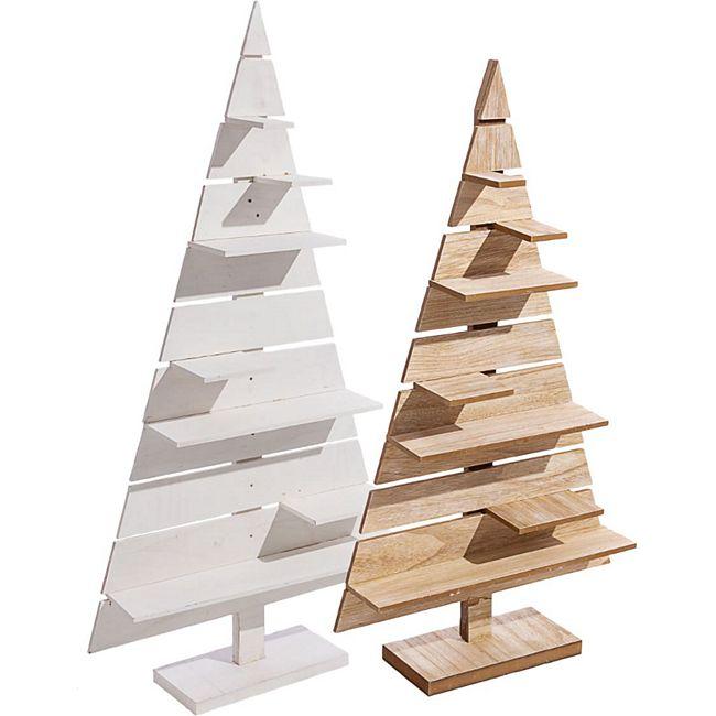 Deko-Objekt Tannenbaum mit Präsentationsfläche groß - Bild 1