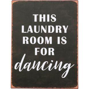 Metallschild Laundry Room Schwarz/Weiß - Bild 1