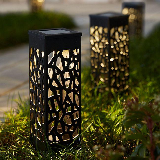 Solarleuchten-Set, 2-tlg. Garden Lights Schwarz - Bild 1