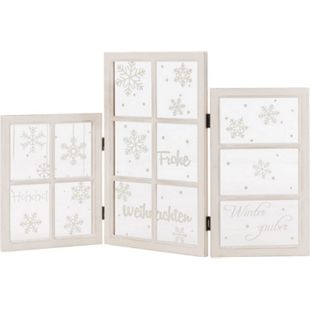 Deko-Objekt Fenster-Paravent X-Mas Weiß - Bild 1