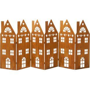 Deko-Objekt Häuserreihe Amsterdam Rost - Bild 1