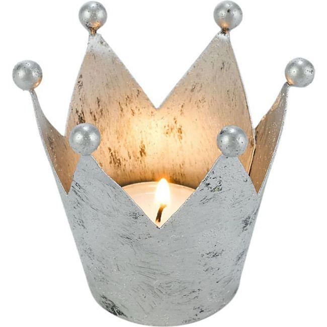 Deko- Objekt, Set-4tlg. Krone Silberfarben - Bild 1