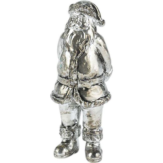 Deko-Vase Weihnachtsmann Silberfarben - Bild 1