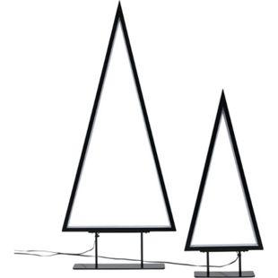 LED-Metallbaum-Set, 2-tlg. Schwarz - Bild 1