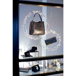 LED-Ring-Set, 2-tlg. Twinkle Silberfarben - Bild 1