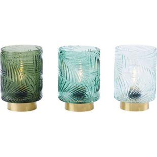 LED-Windlichter-Set, 3-tlg. Artdeco Grün - Bild 1