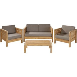 Outdoor-Lounge-Set, 4-tlg. Modeno Natur - Bild 1