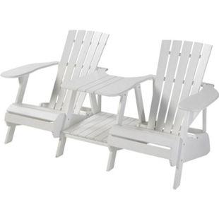 Outdoor-Lounger, 2-Sitzer Adiro Weiß - Bild 1